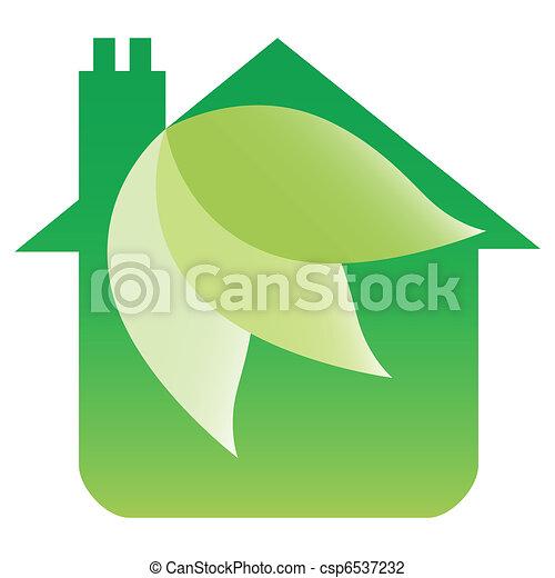 Eco friendly house design.  - csp6537232
