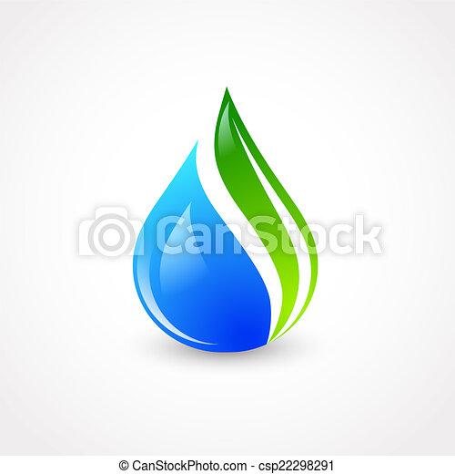 eco, goccia acqua - csp22298291