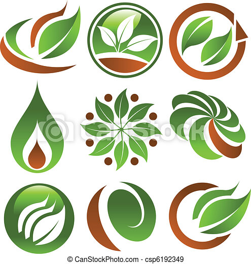eco, grön, ikonen - csp6192349