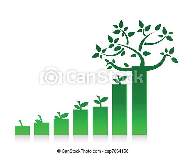 eco graph chart illustration design - csp7664156