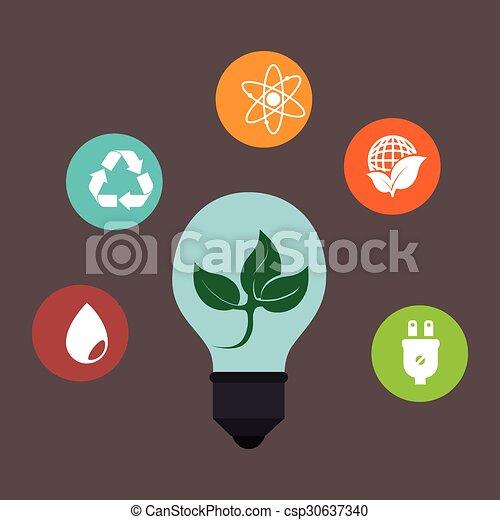 Eco green energy - csp30637340