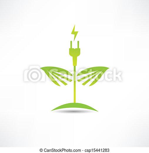 Eco green energy icon - csp15441283