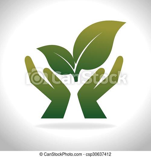 Eco green energy - csp30637412