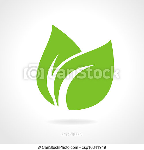 Eco green leaf concept - csp16841949