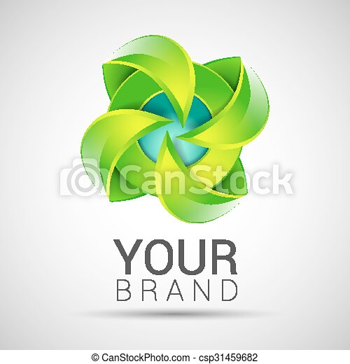 Eco green leaf logo template green leaves ecology icon. Eco green ...