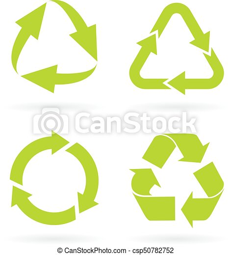 Eco Green Recycled Symbols Set Clipart Vector Search Illustration