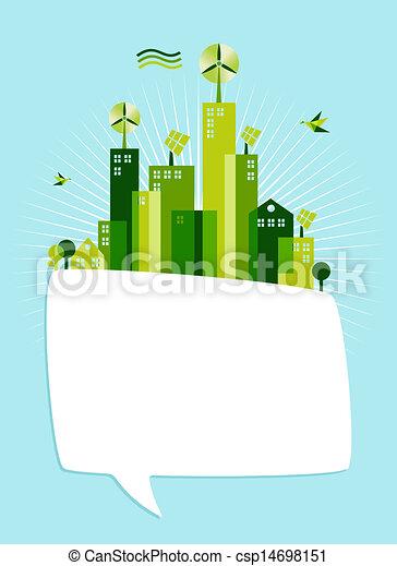 Eco green social media speech bubble - csp14698151