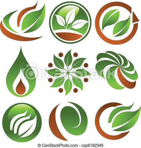 eco, groene, iconen - csp6192349
