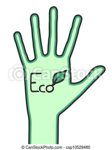 Eco hand - csp10529480