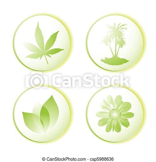 Hoja de icono ecológico - csp5988636