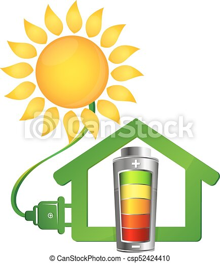 eco house and solar energy eco house and electricity from vector rh canstockphoto com solar energy pictures clip art solar energy pictures clip art