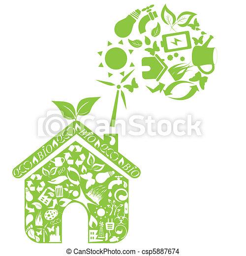 Eco house - csp5887674