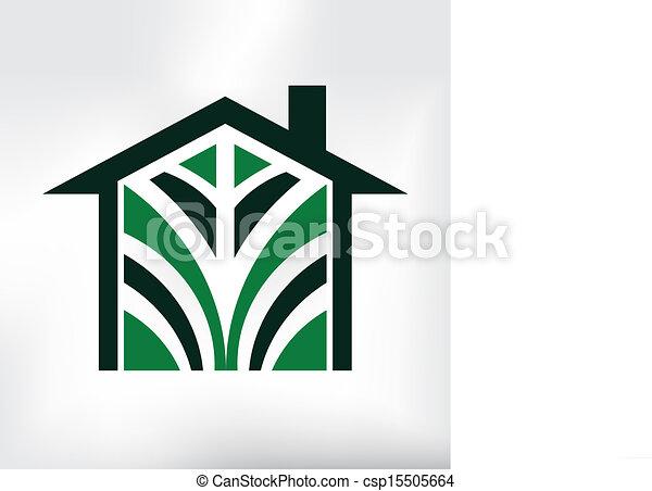 Eco House Logo - csp15505664