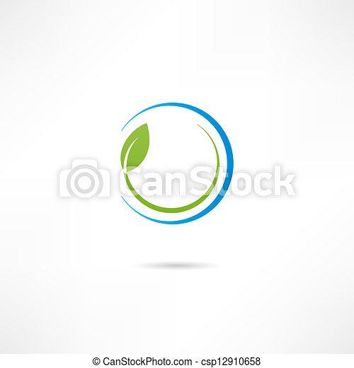 Eco icon - csp12910658