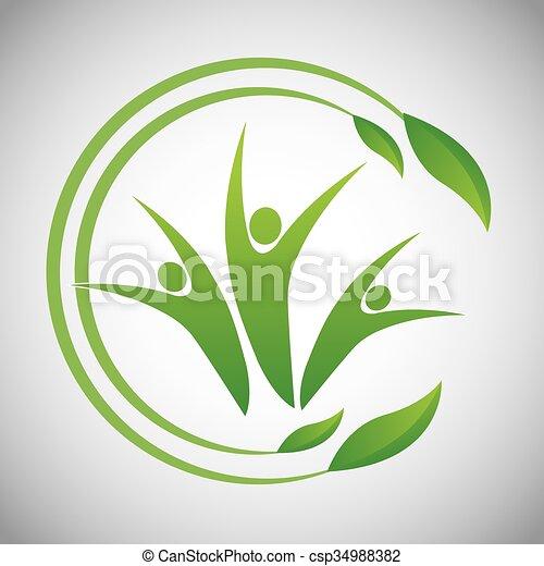 Eco icon design  - csp34988382