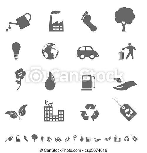 Eco icon set - csp5674616