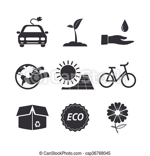 Eco icon set. - csp36768045