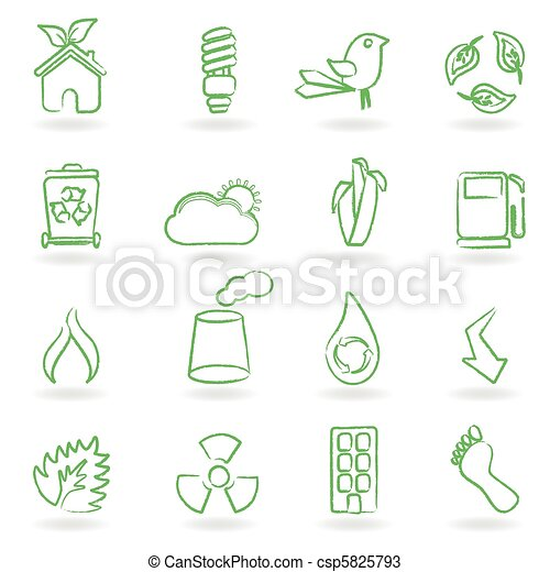 Eco Icon Set - csp5825793