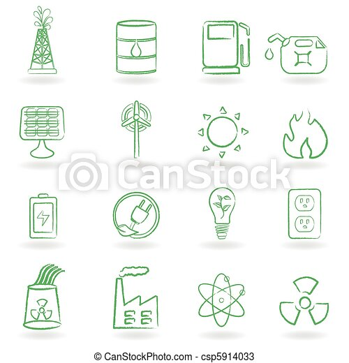 Eco Icon Set - csp5914033
