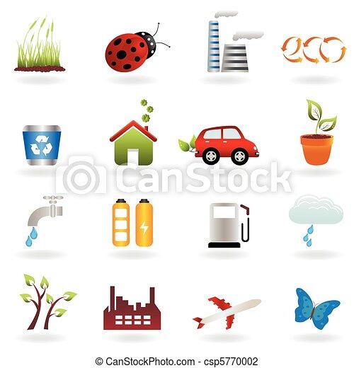 Eco icon set - csp5770002