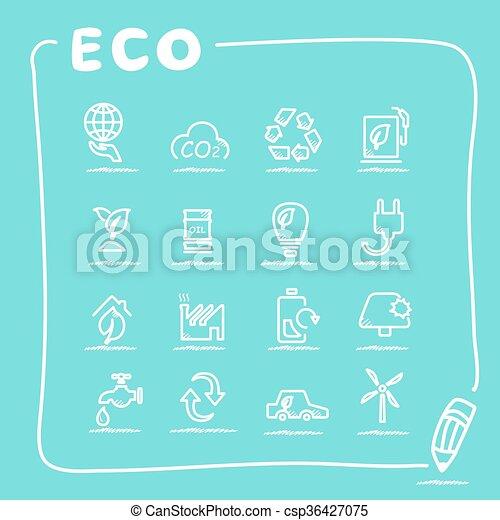 ECO icon set - csp36427075
