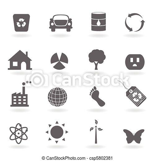 Eco icon set - csp5802381
