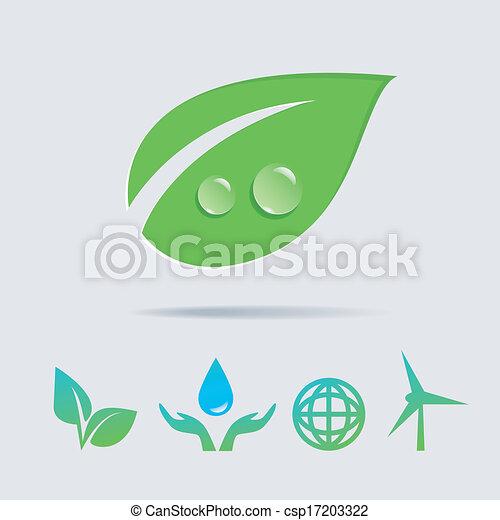 Eco icons vector collection - csp17203322
