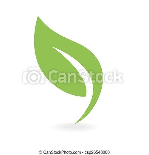 Öko-Ikonengrünes Blatt - csp26548000