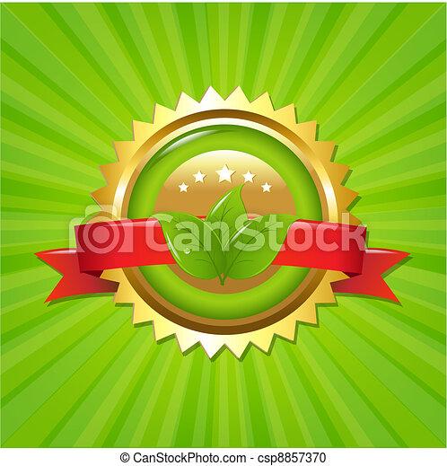 Eco Label With Sunburst - csp8857370