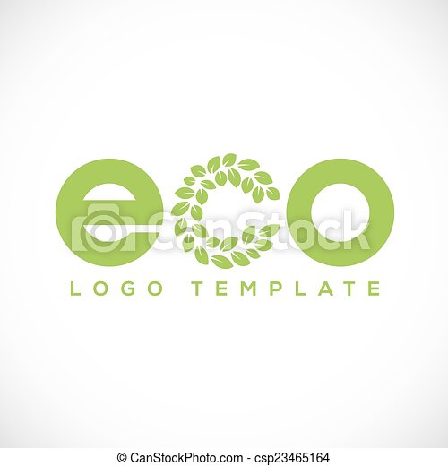 Eco Leaf Abstract Vector Logo Template - csp23465164