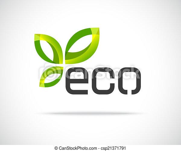 eco, logo, feuille - csp21371791