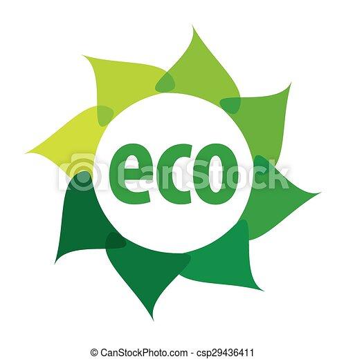 Logo del vector Eco en forma de flor - csp29436411