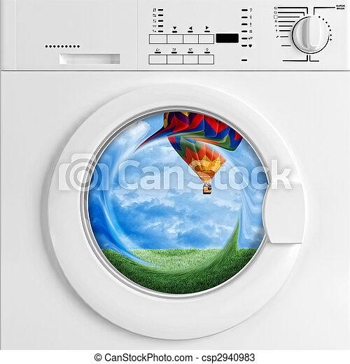 eco, machine, lavage - csp2940983