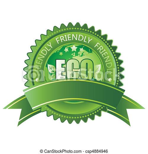 eco- přátelský, ikona - csp4884946