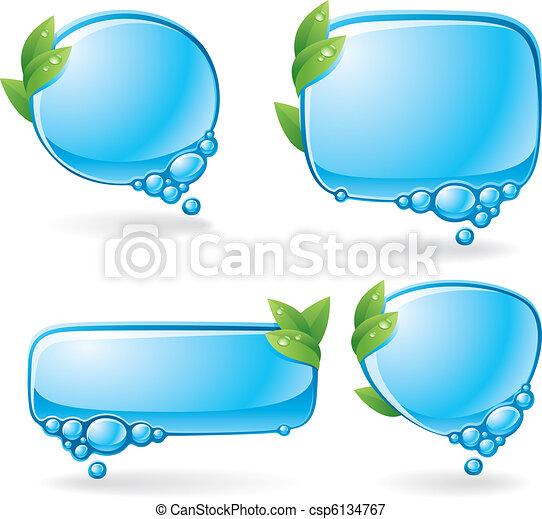eco, parole, ensemble, bulle - csp6134767