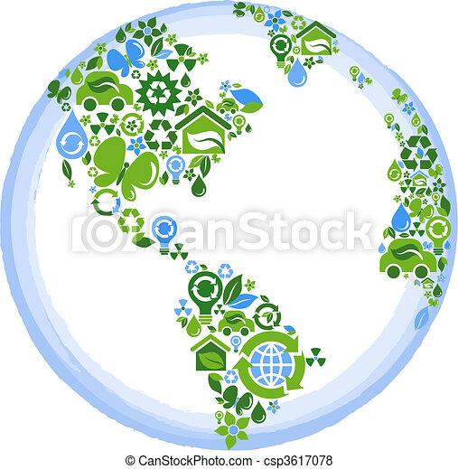 eco, planeet, concept - csp3617078