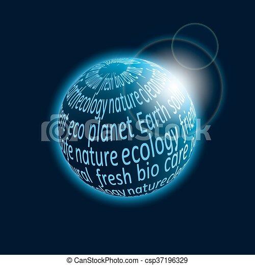 Eco planet icon - csp37196329