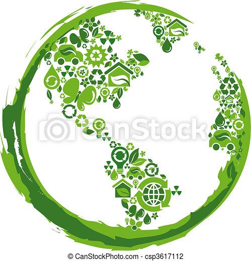 Planeta Eco concepto: 2 - csp3617112