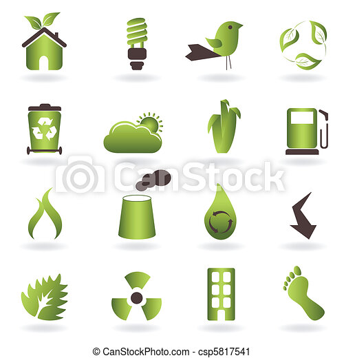 eco, simboli, icone - csp5817541