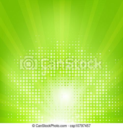 eco, sunburst, grön fond - csp10797457