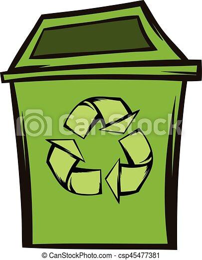 Eco symbole recyclage poubelle cologie eco symbole moderne symbole vert bo te fond - Dessin de poubelle ...