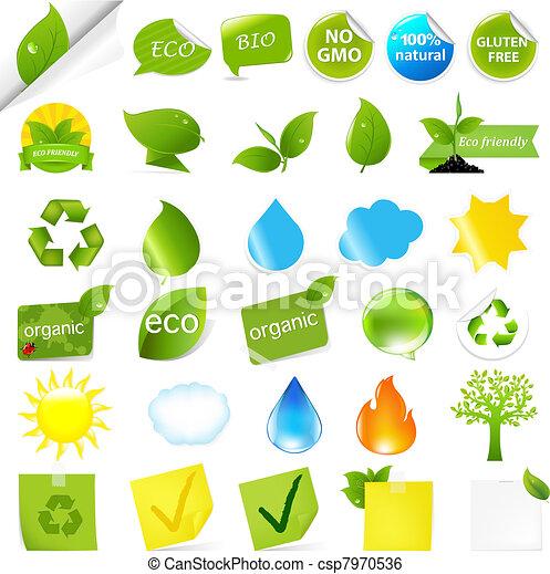 Eco Symbols Set - csp7970536