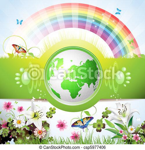 Eco verde tierra - csp5977406