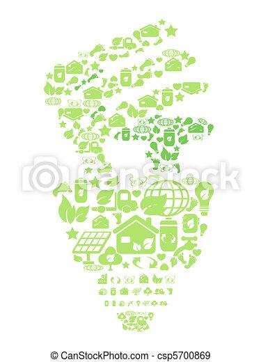 eco, verde claro, bulbo - csp5700869
