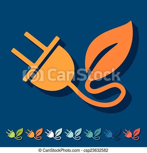 Eco wohnung design blatt stecker vektor suche for Meine wohnung click design download