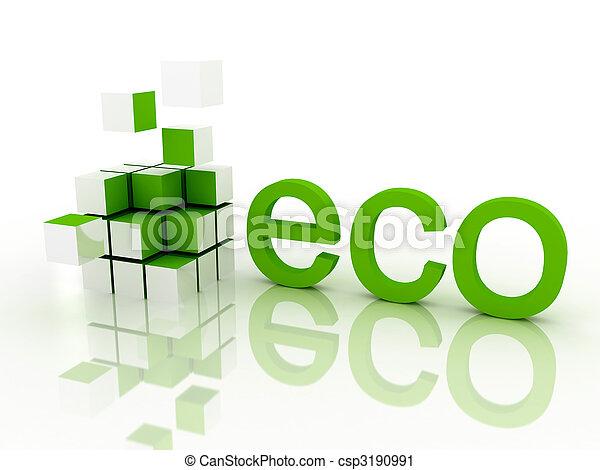 ecológico, conceito - csp3190991