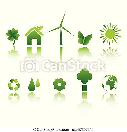 Íconos de ecología - csp57807240