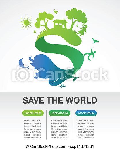 ecología, naturaleza, -, infographics, mundo, excepto - csp14371331