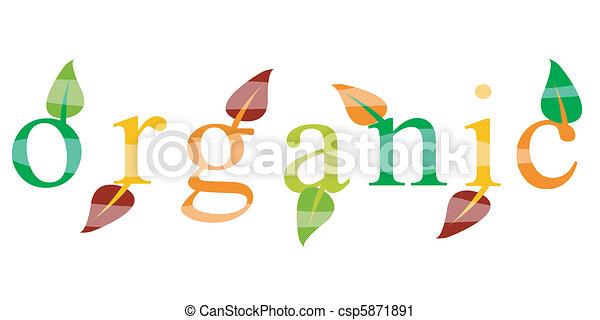 icono ecológico orgánico - csp5871891