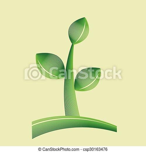 Ecología, ícono orgánico. - csp30163476